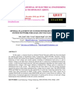Optimal Placement of Custom Power Devices in Power System Network for Load and Voltage Balancing