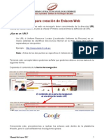Manual Creacion de Enlaces Web