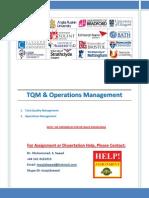 TQM Operations Management
