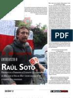 Entrevista Raúl Soto - Diciembre 2012