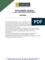 Especificaciones Tecnicas Drywall