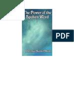 Florence Scovel Shinn the Power of the Spoken Word 1