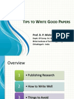 How to Write Good Papers