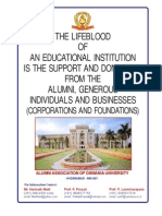 Osmania University Alumni Donation Booklet www.OUAA.org
