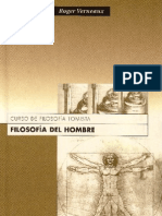 FILOSOFIA DEL HOMBRE [Curso de Filosofía Tomista] - Roger Verneaux