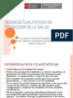 Tecnicas Cualitativas en Promocion de La Salud