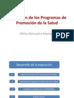 Evaluacion de Los Programas de Promocion de La Salud