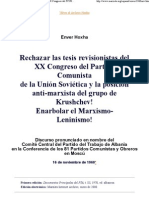 61722269 Rechazar Las Tesis Revisionistas Del XX Congreso Del Partido Comunista de La Union Sovietica