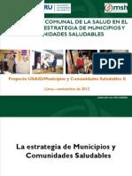 La Vigilancia Comunal de La Salud en El Marco de La Estrategia de Municipios y Comunidades Saludables