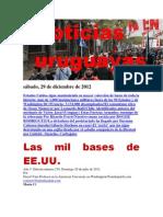 Noticias Uruguayas sábado 29 de diciembre del 2012