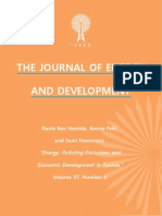 """Energy, Polluting Emissions, and Economic Development in Tunisia,"" by Rania Ben Hamida, Amina Feki, and Sami Hammami"
