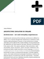 Architecture Education in Finland
