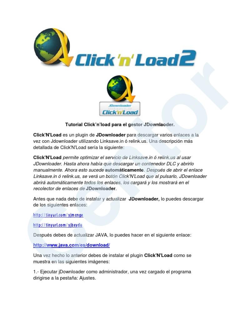 Click'n'load-Tutorial | Java (lenguaje de programación ...