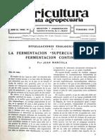 La Fermentación Supercuatro y la Fermentación Continua (1930) Revista Agropecuaria