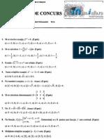Mate.info.Ro.2125 Subiecte Admitere Upb 2012 - Algebra Si Analiza Matematica