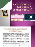 Evolucionismo. Darwinismo.