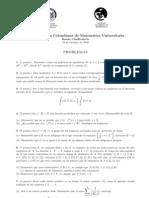 Olimpiada Colombiana de Matematica Universitaria