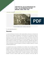 Ley de conscripción vial en Perú