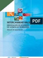 74275573 Intercambiar Valor Negociacion de Acuerdos de Licencia de Tecnologia