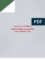 265063 Pieces de Clavecin Livre Premier 1706 JeanPhilippe Rameau