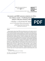 Economics and GHG Emission Reduction of a PLA Bio-refinery System - Combining Bottom-up Analysis With Price Elasticity Effects
