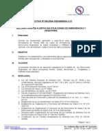 Declaratoria de Alertas en Situaciones de Emergencias y Desastres