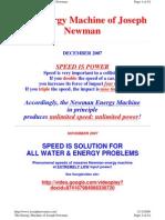 Joseph Newman the Energy Machine