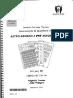 Tabelas Ist-Betão Armado e Pré-Reforçado I