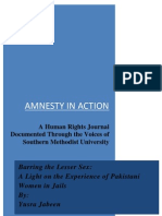 Barring the Lesser Sex: A Light on the Experience of Pakistani Women in Jails By: Yusra Jabeen