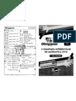 SOLUCIONARIO OLIMPIADAS MATEMATICAS