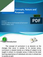 curriculumconceptsnatureandpurposes