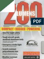 Techlite Lumen Master 200 Lumens Flashlight