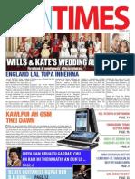 Tahan Times Journal Vol. 1. No. 1, May 19, 2011