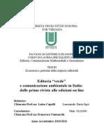 Editoria Verde e Comunicazione Ambientale in Italia Dalle Prime Riviste Alle Edizioni on Line