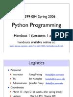 Python a Handout