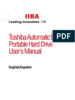 Toshiba 1TB External Hard Drive User's Manual