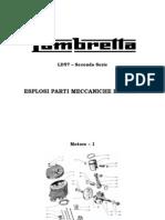 Lambretta LD 57 - Esplosi motore e carrozzeria