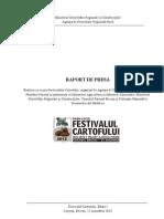 Festivalul Cartofului Raport Presa