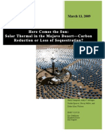 Solar-Thermal-Mojave-DesertReduction or Loss of Sequestration