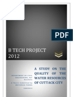 A Study on the Quality of the Water Resources of Cuttack City