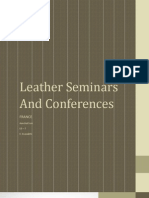 Leather Seminars and Conferences