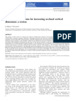 Clinical Considerations for Increasing Occlusal Vertical Dimension
