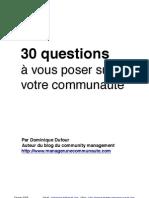 30 questions à vous poser sur votre communauté