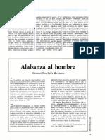 Mirandola, P. Alabanza Al Hombre