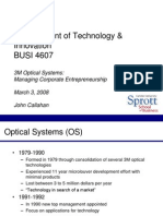 3m optical systems managing corporate entrepreneurship case study 3m optical systems: managing corporate entrepreneurship tn pages: citation global innovation's challenges (brief case) |.