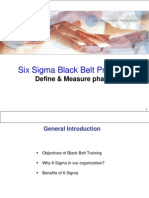 34973369 Six Sigma Black Belt Wk1 Define Amp Measure