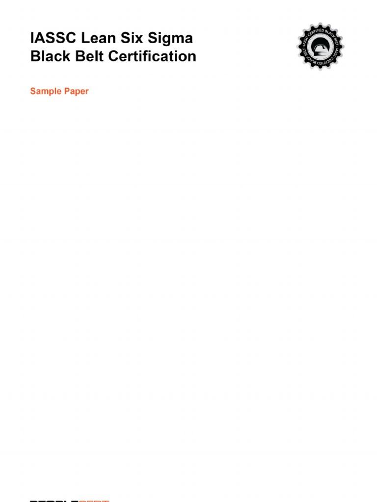Peoplecert Sixsigma Blackbelt Samplepaper V2 Confidence Interval