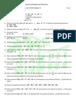Actividades de Polinomios Reducida .4ºESO