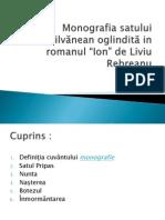 Monografia satului ardelean oglindită în romanul Ion de Liviu Rebreanu