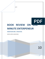 Book Review on One Minute Enterpeneur